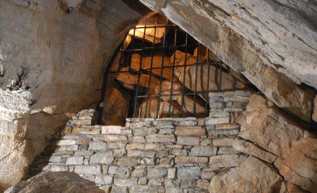 """Il passaggio denominato """"Diaframma"""" consente di accedere alla Sala dei Pipistrelli."""